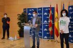Luis Tudanca con miembros de la Plataforma pro Sanidad Pública de Béjar
