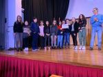 Alumnos y profesores del Marqués de Valero