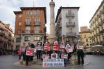 Miembros de La Plataformas Teruel existe y Soria ya. Foto de Paco Juarez