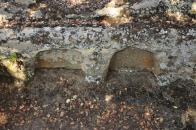 8.- El Maguillo. Detalle de la oquedad para el encaje de los cráneos.