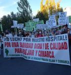 Manifestación pro Hospital Virgen del Castañar