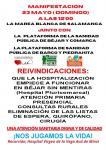 Manifestación Marea Blanca en Salamanca