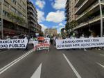 Manifestación pro Sanidad pública en Salamanca