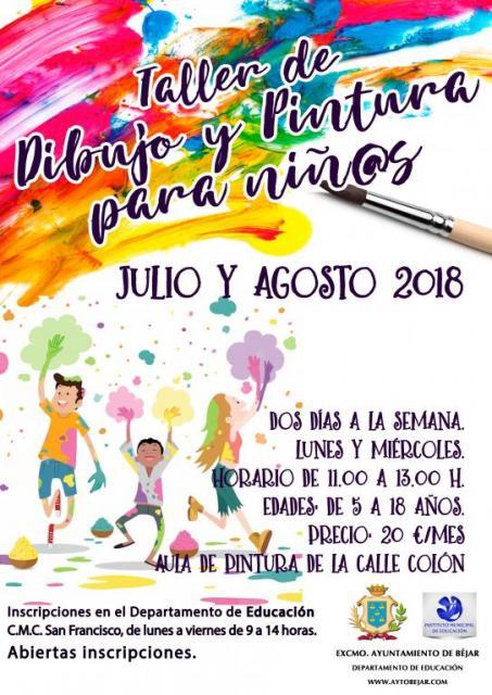 Taller de dibujo y pintura para niños | bejar.biz