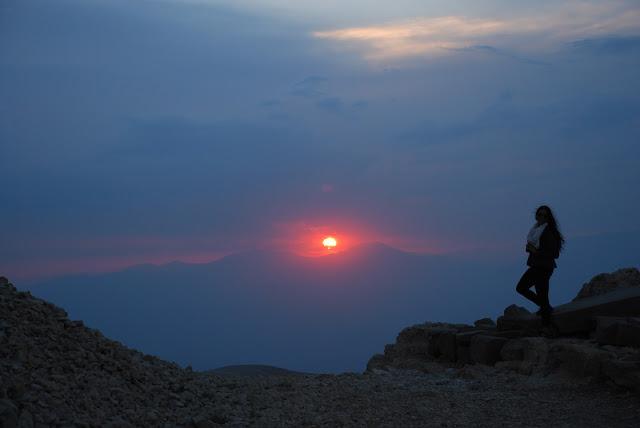 Puesta de sol en el Monte Nemrut