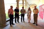Los conferenciantes con la Dirección del CEB
