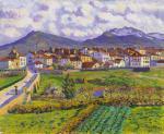 Paisaje de Hernani, de Darío de Regoyos