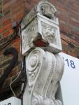 Detalle de la esquina de una casa en West Hampstead