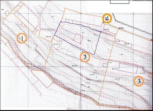 Figura 1. Plano del entorno y del jardín de la Solana (2)