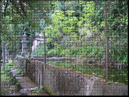 Foto 20.  Pilón de granito de doble vaso.