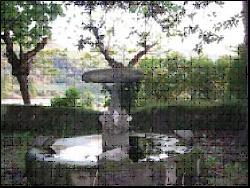 Foto 31. Fuente de granito de estilo italiano.